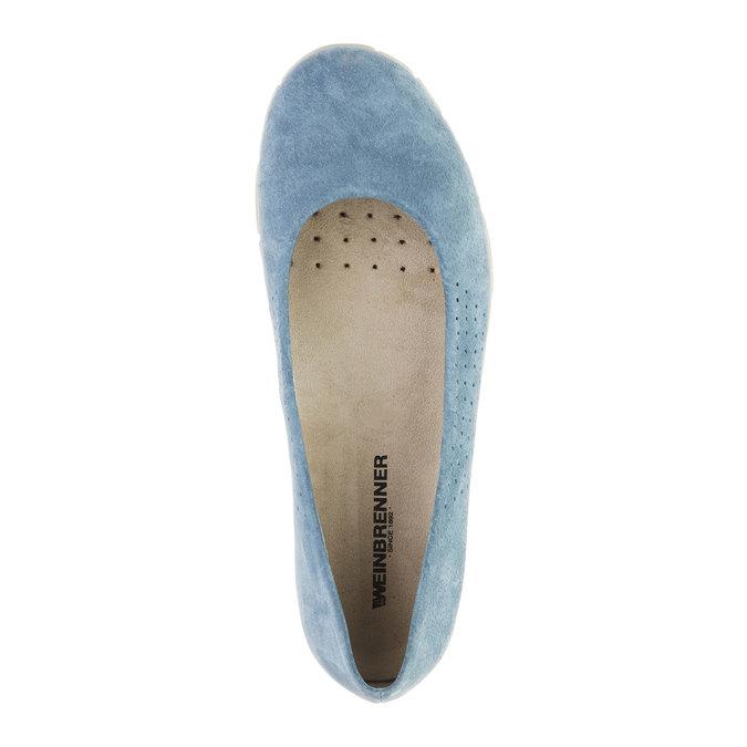 Ležérní kožené baleríny weinbrenner, modrá, 526-9103 - 19