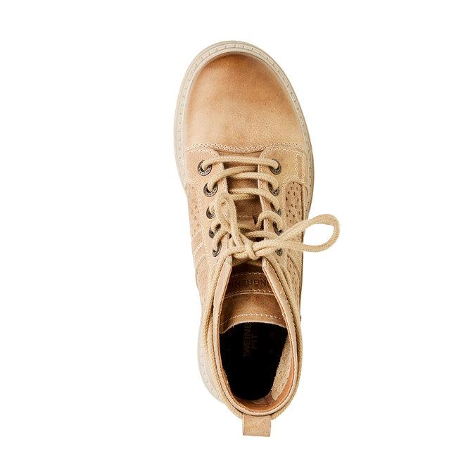 Kožené kotníčkové boty weinbrenner, hnědá, 594-4138 - 19