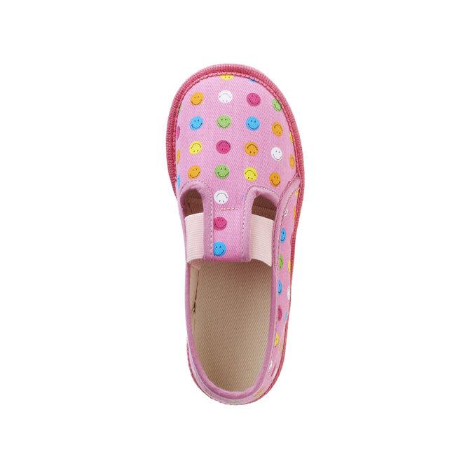 Dětská domácí obuv bata, růžová, 179-5105 - 19