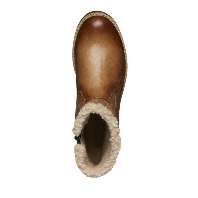 Kožená zimní obuv bata, hnědá, 594-3101 - 19