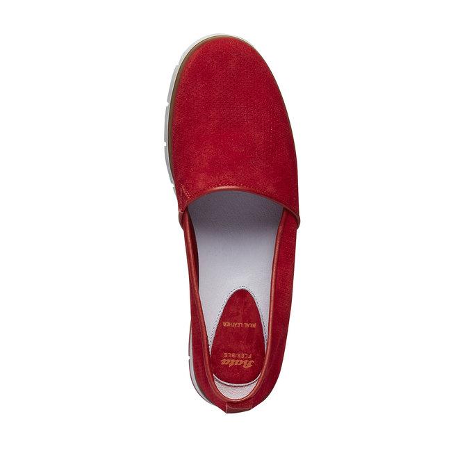 Kožené Slip-on boty s perforací flexible, červená, 513-5200 - 19
