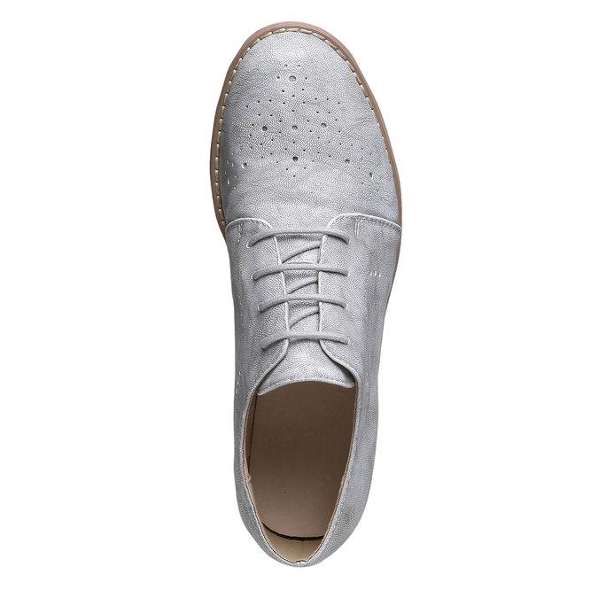 Dámské polobotky bata, šedá, 521-2477 - 19