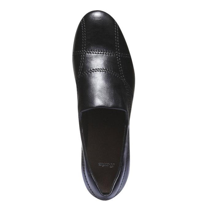 Nazouváky s prošitím bata, černá, 511-6101 - 19