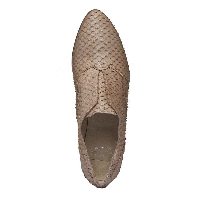 Dámské kožené polobotky bata, hnědá, 514-8212 - 19