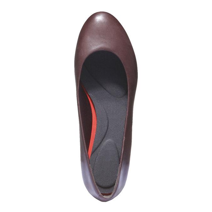Kožené baleríny rockport, červená, 624-5380 - 19