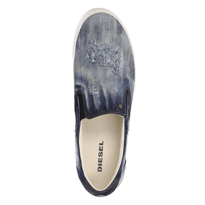 Denimové Slip on boty diesel, modrá, 889-9150 - 19