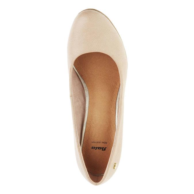 Lodičky na širokém podpatku bata, béžová, 721-5946 - 19