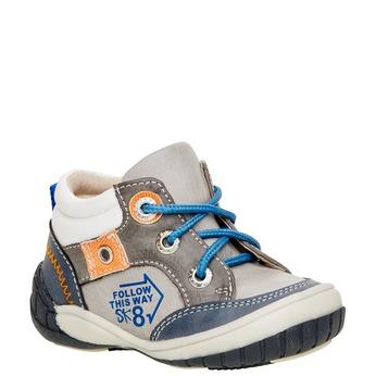 Kotníčkové boty se zipem mini-b, šedá, 111-2100 - 13