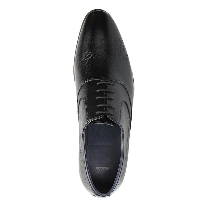 Kožené polobotky v Oxford střihu bata, černá, 824-6812 - 19