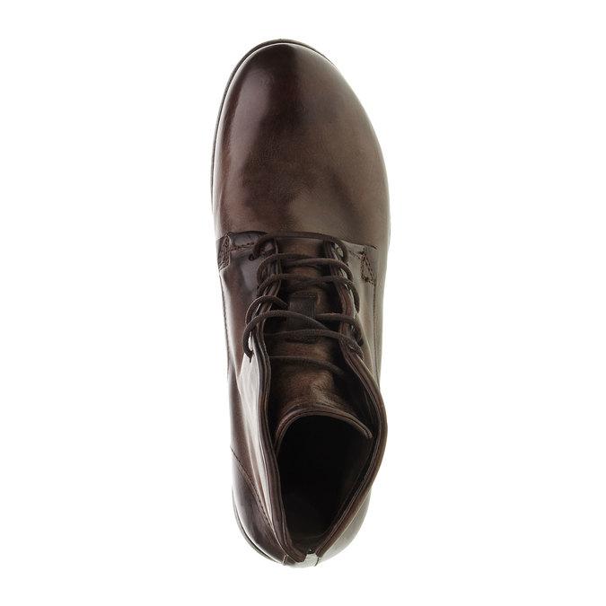 Kožená kotníčková obuv a-s-98, hnědá, 896-4007 - 19