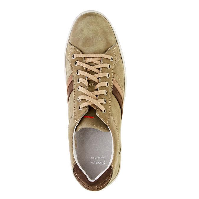 Ležérní kožené tenisky bata, béžová, 846-7638 - 19