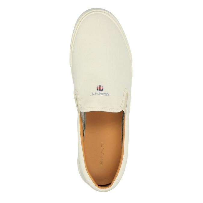 Pánská obuv Slip-On gant, bílá, 839-1005 - 19
