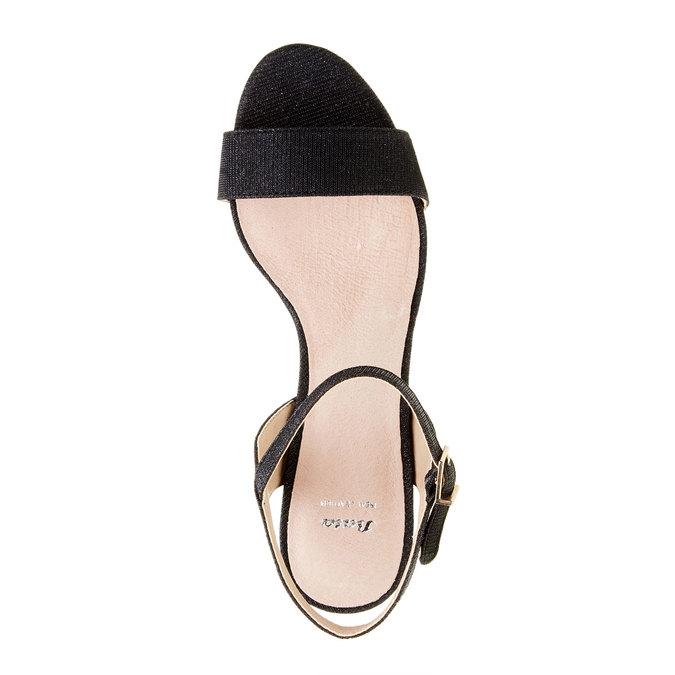 Sandály na jehlovém podpatku bata, černá, 761-6310 - 19