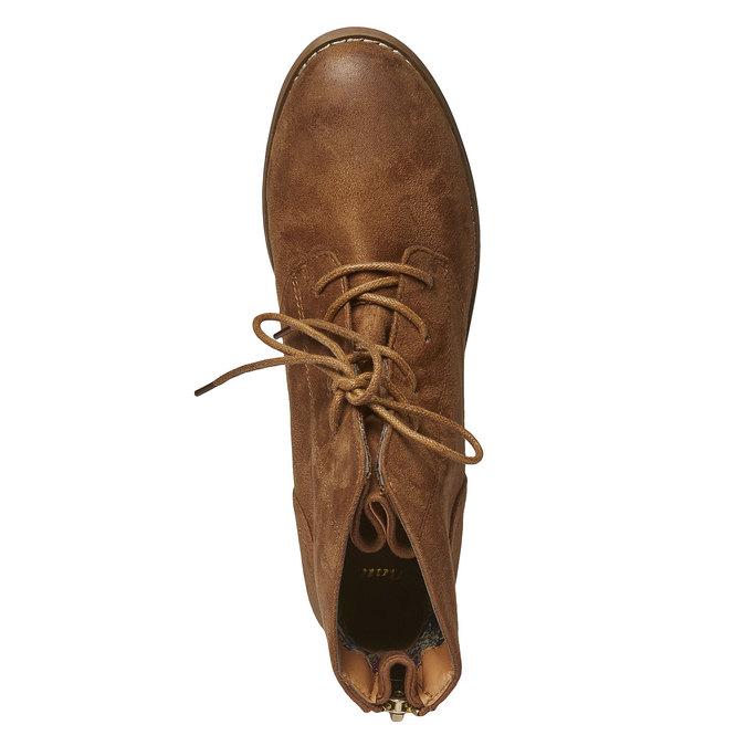 Kotníčkové šněrovací boty bata, hnědá, 599-3493 - 19
