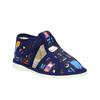 Dětská domácí obuv bata, černá, 179-9005 - 13