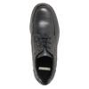 Kožené polobotky s prošitím na špici bata, černá, 826-6640 - 19