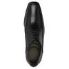 Černé kožené polobotky bata, černá, 824-6724 - 19