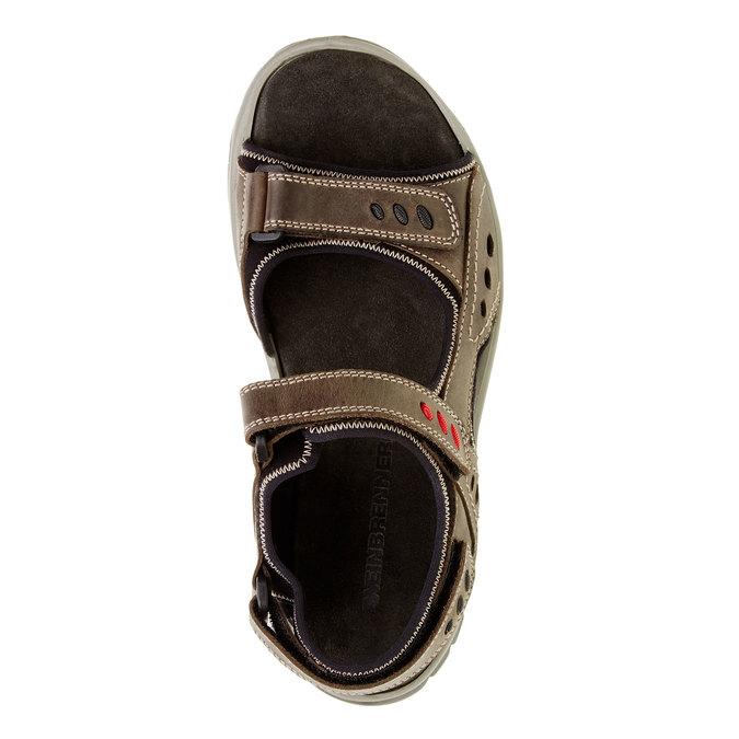 Pánské kožené sandály weinbrenner, hnědá, 866-2105 - 19