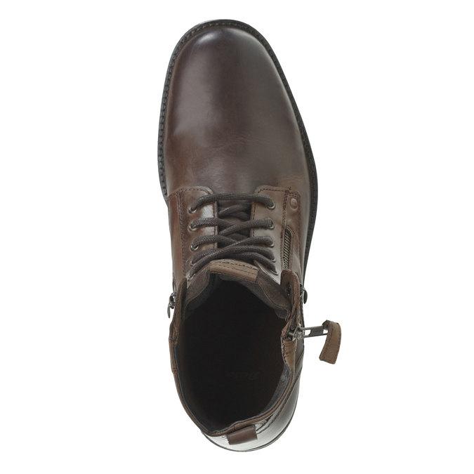 Kožená kotníčková obuv bata, hnědá, 894-4449 - 19