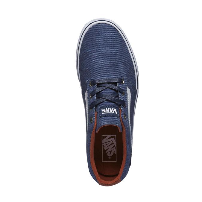 Pánské tenisky s denimovým svrškem vans, modrá, 889-9204 - 19