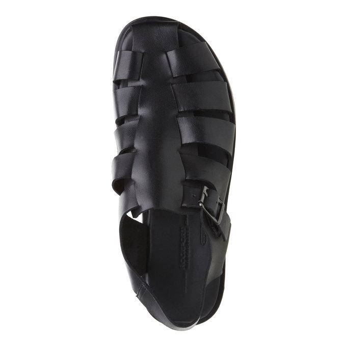 Černé pánské kožené sandály rockport, černá, 864-6104 - 19