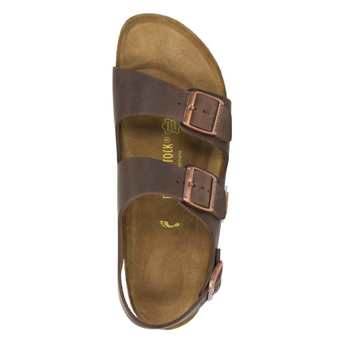 Pánské kožené sandály na korkové podešvi birkenstock, hnědá, 866-4005 - 19