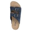Kožená domácí obuv pánská de-fonseca, modrá, 873-9610 - 19