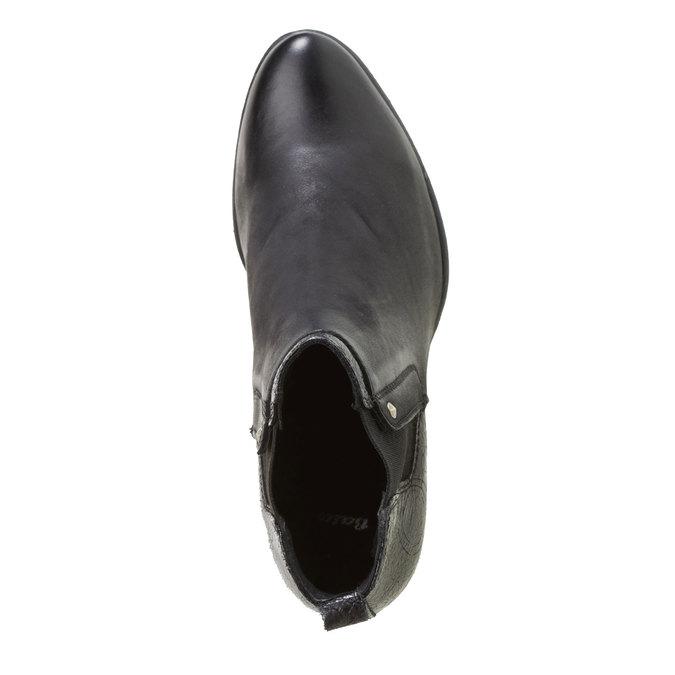 Kožené kotníkové kozačky bata, černá, 694-6107 - 19