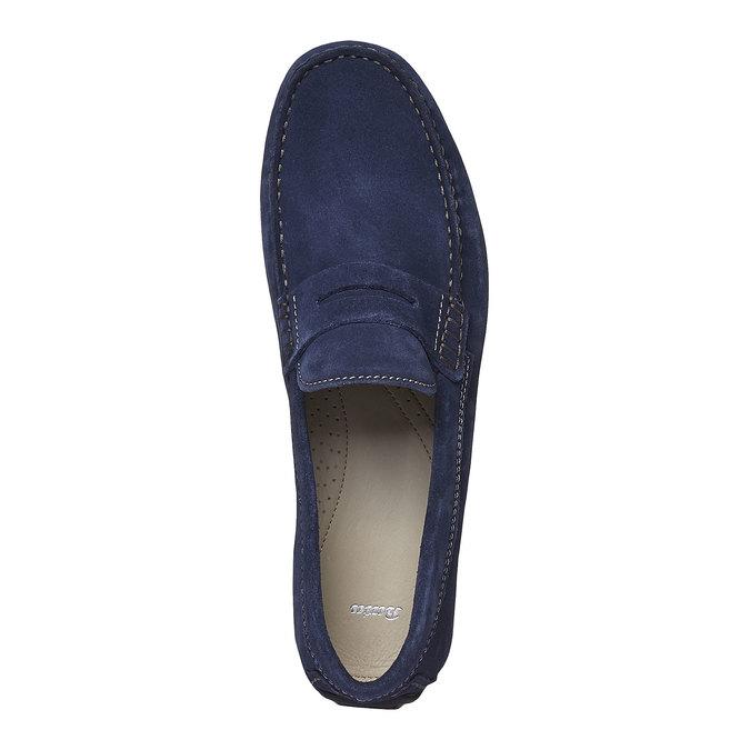Pánské kožené mokasíny bata, modrá, 853-9180 - 19