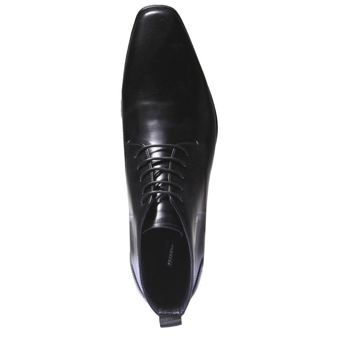 Kožená kotníčková obuv bata, černá, 894-6144 - 19