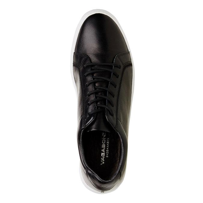 Pánské kožené tenisky vagabond, černá, 824-6256 - 19