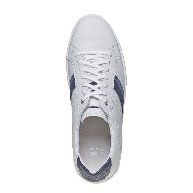 Bílé kožené tenisky bata, bílá, 844-1639 - 19