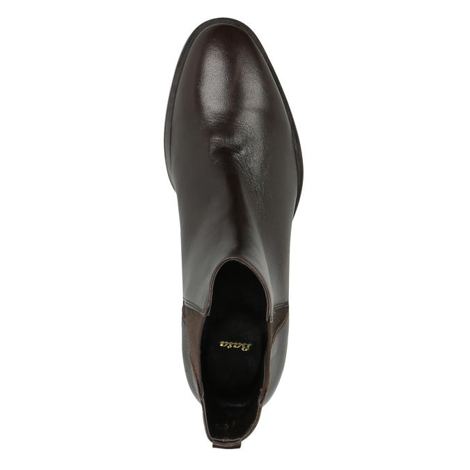 Kožené kotníčkové boty s pružnými boky bata, hnědá, 596-4623 - 19