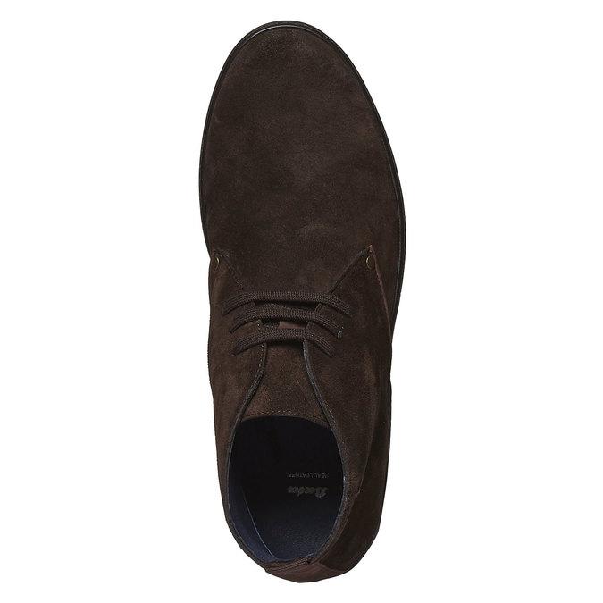Semišové polobotky bata, hnědá, 893-4387 - 19