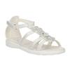 Dívčí sandály s kytičkami mini-b, bílá, 261-1161 - 13