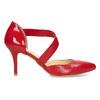 Kožené Lodičky s páskem bata, červená, 724-5904 - 19