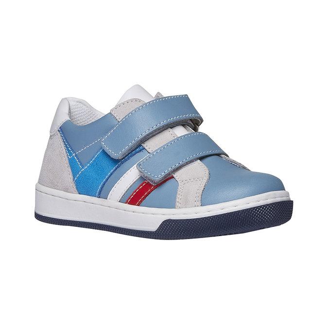 Dětské kožené tenisky na suché zipy mini-b, modrá, 214-9153 - 13