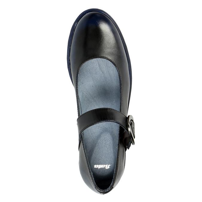Kožené baleríny na výrazné podešvi bata, černá, 626-9606 - 19