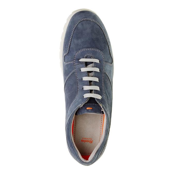 Ležérní kožené tenisky flexible, modrá, 846-9650 - 19