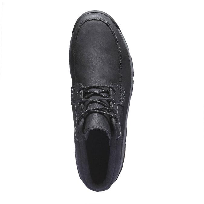 Kožená kotníčková obuv rockport, šedá, 896-6417 - 19