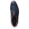 Kožené polobotky v Derby stylu conhpol, hnědá, modrá, 826-9103 - 19