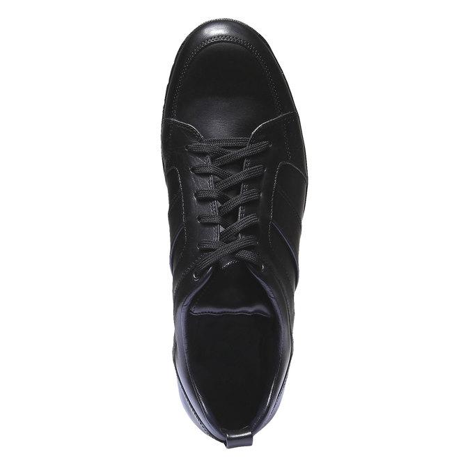 Kožené tenisky bata, černá, 824-6351 - 19