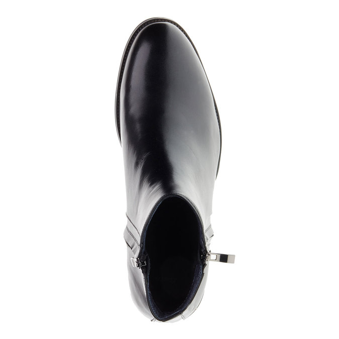 Kožené kotníkové boty se zipy bata, černá, 894-6138 - 19