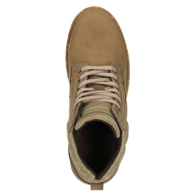 Pánská zimní obuv kožená weinbrenner, hnědá, 896-3102 - 19