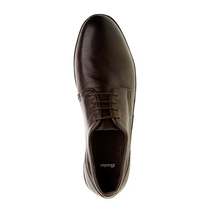 Pánské kožené polobotky bata, hnědá, 824-4300 - 19