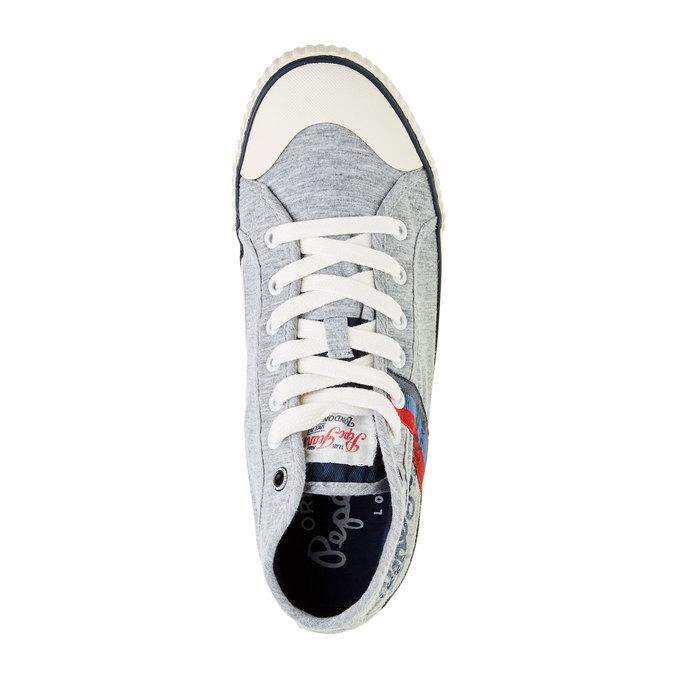 Pánské kotníčkové tenisky pepe-jeans, šedá, 849-2001 - 19