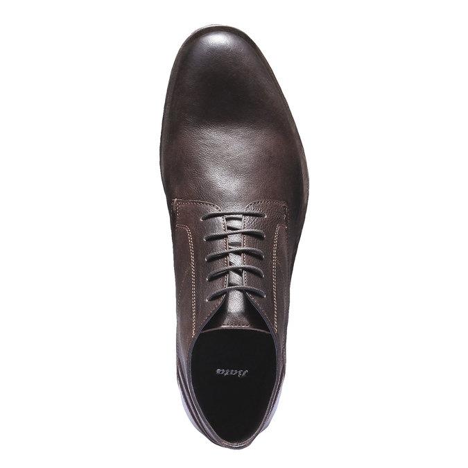 Kožená kotníčková obuv bata, hnědá, 894-4178 - 19