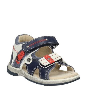 Dětské sandály mini-b, modrá, 161-9100 - 13