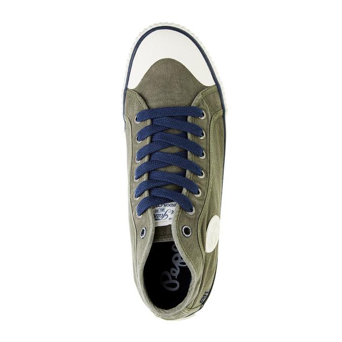 Pánské kotníčkové tenisky pepe-jeans, zelená, 849-7013 - 19