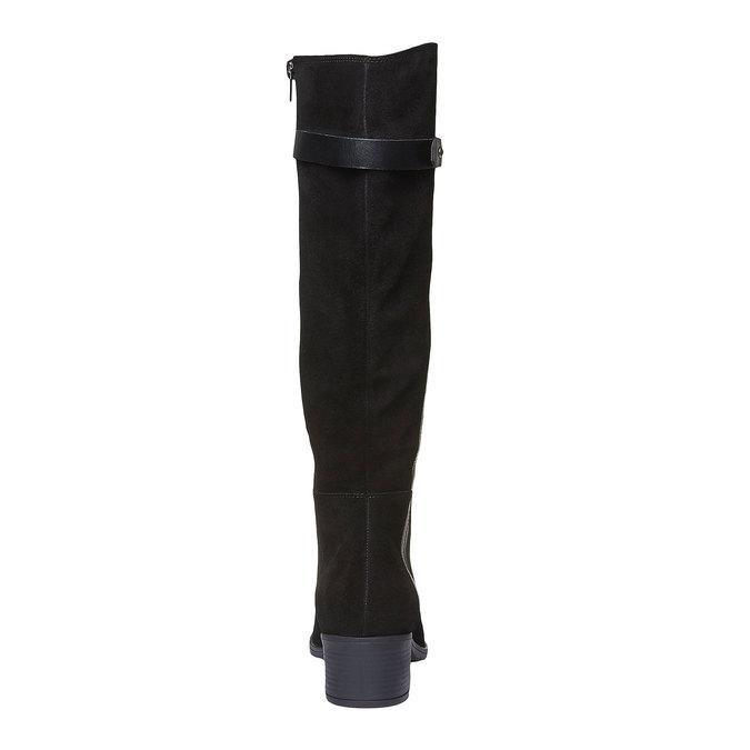 Kozačky z broušené kůže bata, černá, 693-6100 - 19